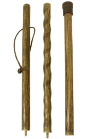 Brazos Three-Section Twisted Oak Traveller Hiking Stick & Carry Case