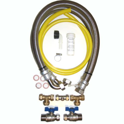 15mm High Flow Water Softener Installation Kit  1000mm Hoses