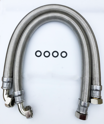 28mm Stainless Steel Hoses, 1000mm long Pair AF724