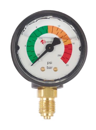 "Cintropur Replacement 1/4"" Pressure Gauge 0-20 Bar - NW280/340/400/500/650/800"