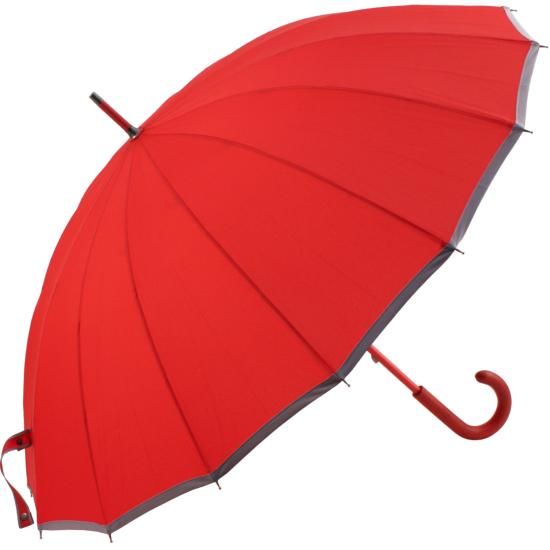 Sedici Fibreglass 16 Rib Umbrella - Red