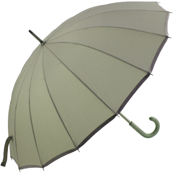 Sedici Fibreglass 16 Rib Umbrella - Grey