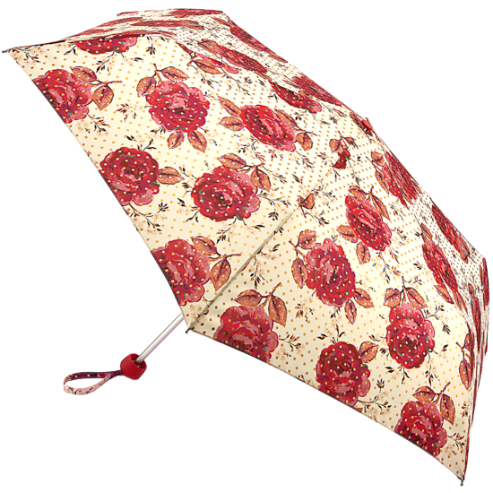 Cath Kidston Minilite Folding Umbrella - Jacquard Rose