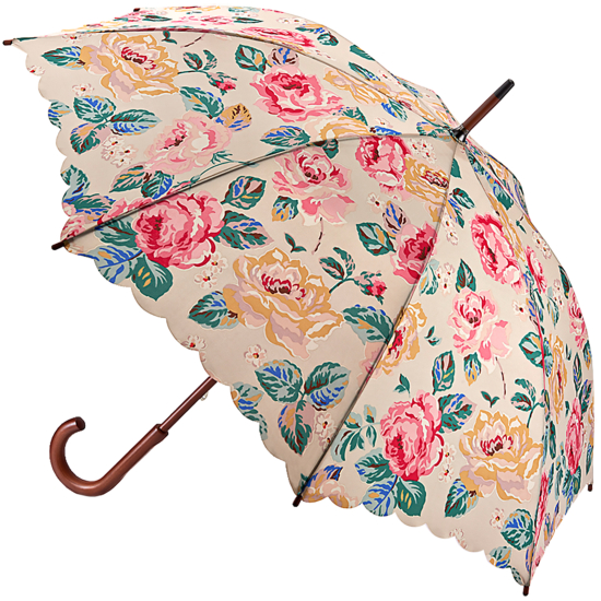 Cath Kidston Kensington Walking Length Umbrella - Forest Rose Taupe