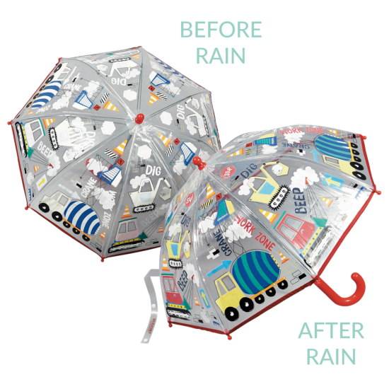 Colour Changing Childrens PVC Umbrella - Construction