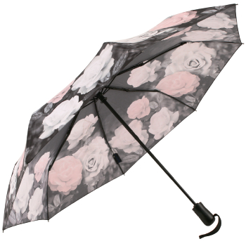 Galleria Art Print Auto Open & Close Folding Umbrella - Vintage Rose