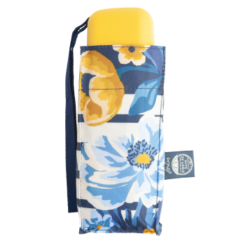 Joules Tiny Folding Umbrella - Botanical Bouquet Border Stripe