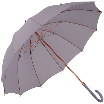 12 Rib Walker Umbrella with Bronzed Frame by M&P - Lilac Grey