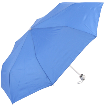 Mini Colours - Plain Coloured Folding Umbrella - Blue