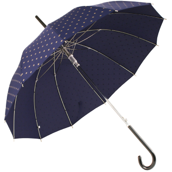 12-Rib Blue Pagoda Umbrella with Gold Stars by Molly Marais