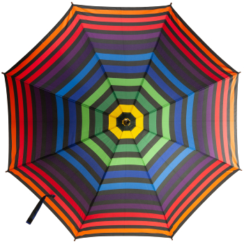 Rainbow Stripe Walking Length Umbrella