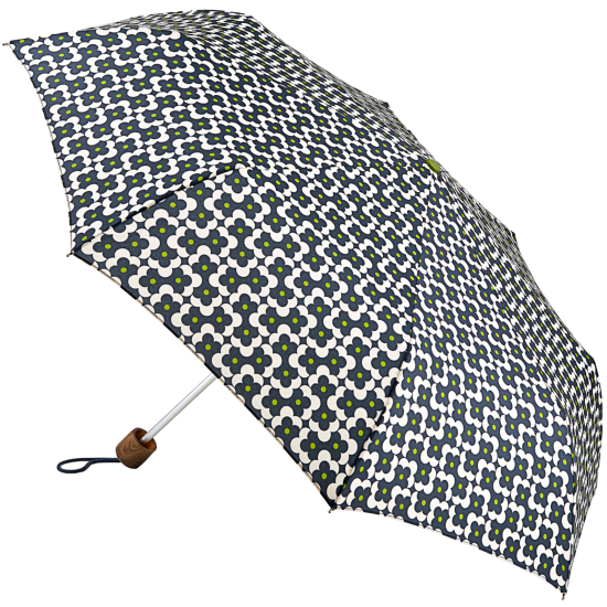 Orla Kiely Minilite Folding Umbrella - Flower Shadow Dot Ink