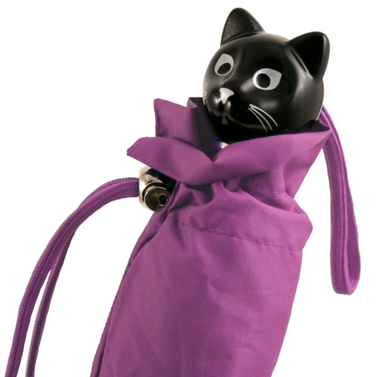 Cat Folding Umbrella by Rainbow of Milan - Violet