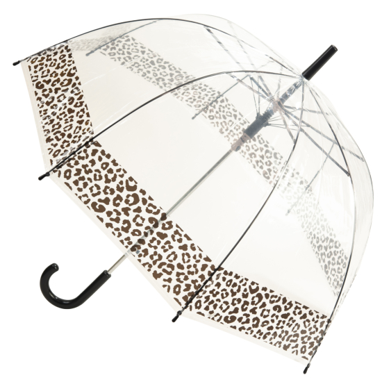 Susino Clear Dome Umbrella - Leopard Print