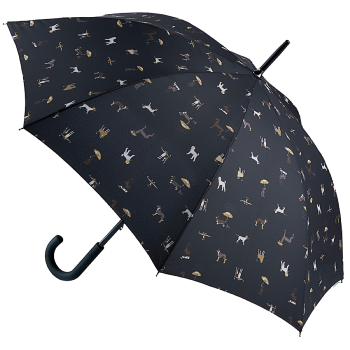 Joules Kensington Umbrella - Raining Dogs