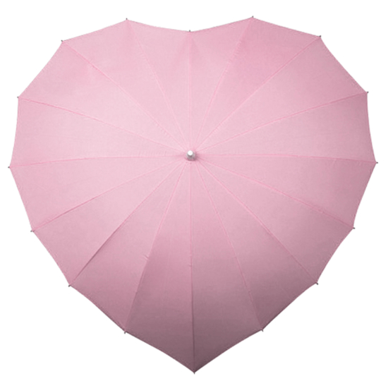Heart Umbrella - Powder Pink