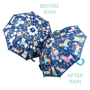 Colour Changing Childrens PVC Umbrella - Pets