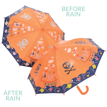 Colour Changing Childrens Umbrella - Pirate Ship