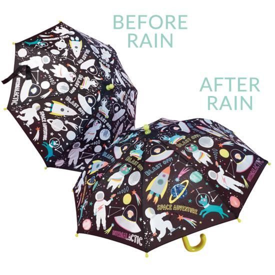 Colour Changing Childrens Umbrella - Space Adventure