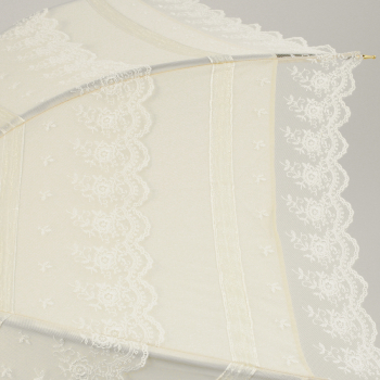 Antoinette - UVP Ivory French Embroidered Lace Parasol by Pierre Vaux