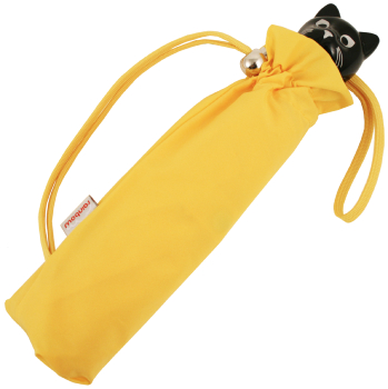 Cat Folding Umbrella by Rainbow of Milan - Yellow