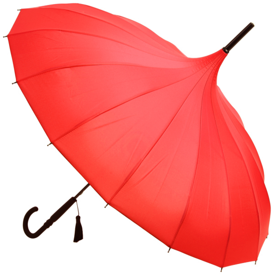 Classic Pagoda Umbrella from Soake - Red
