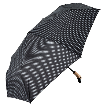 Susino Duck Folding Umbrella - Black Dotty
