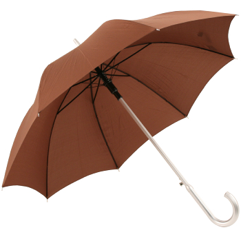 Colours - Plain Coloured Umbrella - Brown