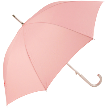 Colours - Plain Coloured Umbrella - Pale Pink