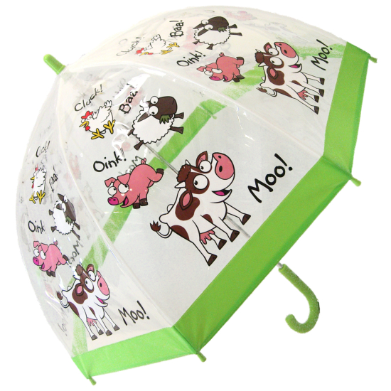 Bugzz PVC Dome Umbrella for Children - Farmyard
