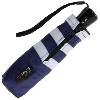 Breton Stripe Folding Umbrella - Navy