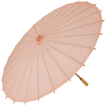 Chinese Paper and Bamboo Parasol - Rose Quartz