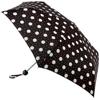 Lulu Guinness Minilite Folding Umbrella - Polka Lips