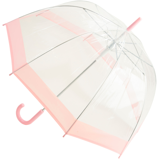 Susino Clear Dome Umbrella - Pastel Pink