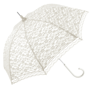 Romantica Lace Umbrella - White