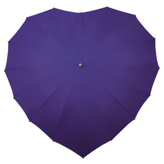 Heart Umbrella - Purple