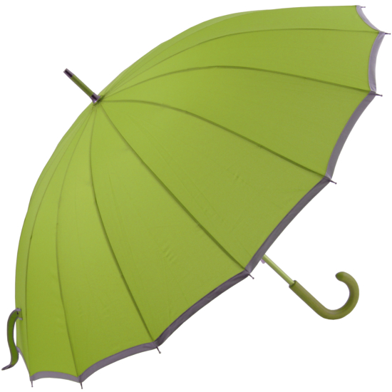 Sedici Fibreglass 16 Rib Umbrella - Soft Green