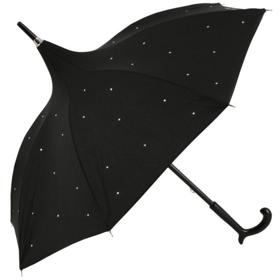 Black Diamante Pagoda Parasol by Chantal Thomass