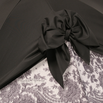 Drape Bow Parasol in Black and Lace by Chantal Thomass