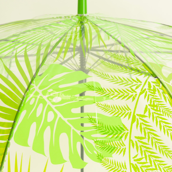Leaf Canopy Clear Umbrella - Jungle Leaves