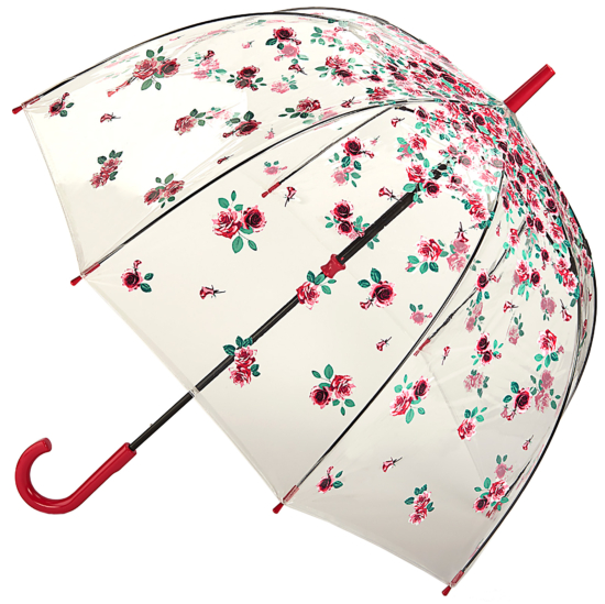 Fulton Birdcage Clear Dome Umbrella - Rose Bud