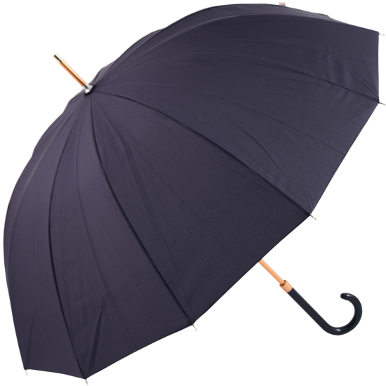 12 Rib Walker Umbrella with Bronzed Frame by M&P - Indigo