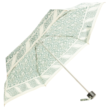 Morris & Co Tiny by Fulton - Lightweight Folding Umbrella - Bellflower Indigo Sage