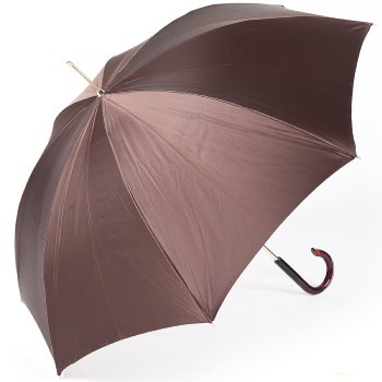 Dahlia Mocha Double Canopy - Luxury Ladies Umbrella by Pasotti