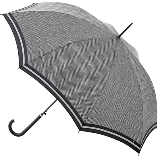 Riva Auto Prince of Wales Stripe - Petite automatic walking length umbrella