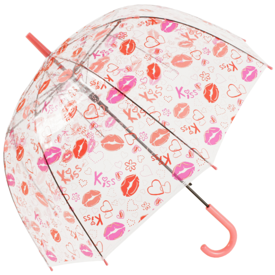 Soake Auto Clear Dome Umbrella - Lips