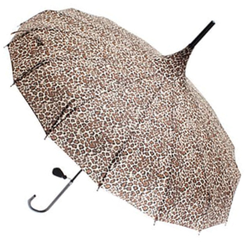Classic Pagoda Umbrella from Soake - Leopard Print