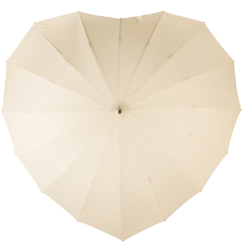 Soake Heart Umbrella - Cream