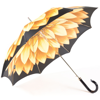 Lotus Gold Luxury Ladies Automatic Umbrella by Pasotti