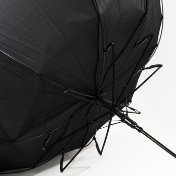 Performance Windbeater Auto Open Walking Length Umbrella - Black